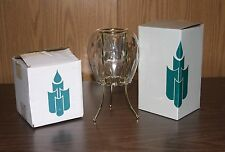 PARTYLITE OPTIC ODYSSEY CANDLE HOLDER P0353 AND STAND  P7500