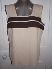BNWT Millers size 14 moccha infusion contrast spliced cami/tank in EC