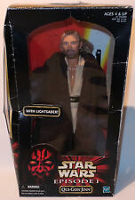 STAR WARS : QUI-GON JINN ACTION FIGURE MADE BY HASBRO IN 1998 (SK)