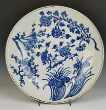 A Chinese Antique Blue and White Porcelain Charger, Transitional Period (17th C)