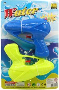 2x Wasserpistole Wasser-Pistole Spritzpistole Kanone Water Gun Hand-Shooter 14cm