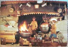 Montana Postcard FRONTIER TOWN Dining Room Fireplace John & Sue Quigley Helena