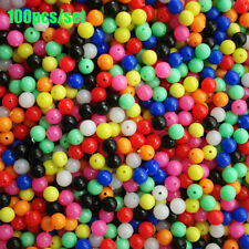 Color Round Stoppers Floats Balls Double Pearl  Fishing Cross Beads Drill