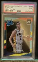 2017 Panini Donruss Optic 199 Lonzo Ball Red Yellow Rated Rookie PSA 9