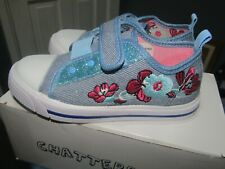 NEW, GIRLS CHATTER BOX  TRAINERS,SHOES SIZE  SIZE UK 9
