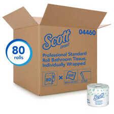 Scott Essential 2-Ply Standard Toilet Paper, White, 550 Sheets/Roll, 80 Rolls/Ca