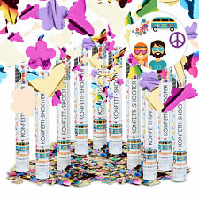 10 X Party Popper Butterflies and Flowers 40 Cm Shooter Confetti Cannon