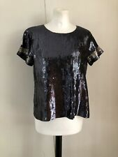 Odd Molly sequinn & Stars Top Camisa Blusa Talla S (1) Red de verano un Porter