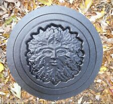 Gostatue  MOLD concrete greenman wicca celtic stepping stone plastic mold