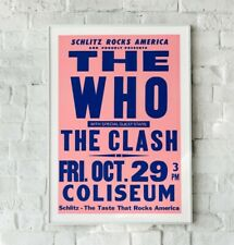 More details for the who gig poster, vintage retro concert poster, the who print, the who poster