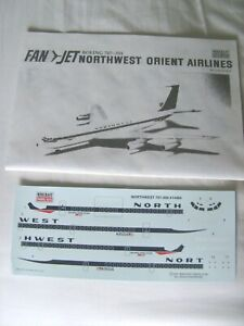 Minicraft Boeing B707 Northwest Orient 1/144 Scale decals Instructions only New