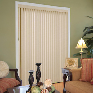 Hampton Bay Vertical Blind 78in. W x 84in. L Humidity Resistant Trimmable Length