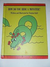 How Do You Hide A Monster Virginia Kahl 1971 Loch Ness Childrens Book
