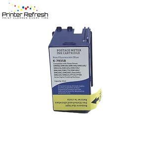 Compatible Pitney Bowes Franking Ink Cartridge Blue 793-5SB DM100i, DM200i lot