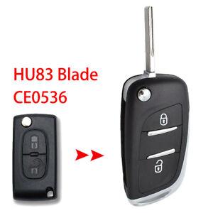 CE0536 HU83 Blade Car Key Shell For Peugeot 308 207 307 Key Remote Fob Case