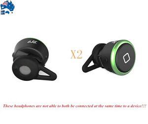 2x Wireless Bluetooth Mini Headset Earphone Headphone For iPhone Samsung HTC