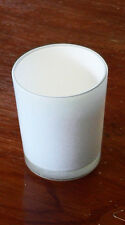 White Glass Tea light Candle Holder Wedding Table Rugby All Party BUY QTY REQD