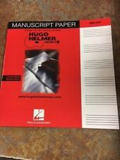 Manuscript Paper, Wide Staff, Published By Hal Leonard