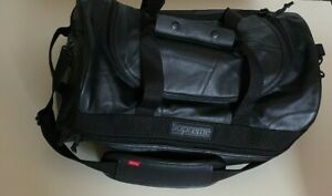 FW19 Supreme Patchwork Cowhide Leather black duffle bag