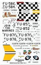 Blemished Warbird F-86 Sabre Decals 1/48, Mig Mad Marine, Darling Dottie