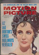 Motion Picture Magazine Hayley Mills Liz Taylor Dick Chamberlain  February 1963