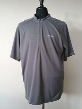 Eddie Bauer Men's Size XL 1/2 Zip Pullover T Shirt Grey casual key pocket SS