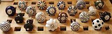 20 x Möbelknöpf Knoepf Shabby Schubladen Knöpfe Moebel griffe Indien Keramik