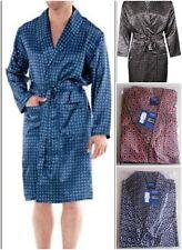 fbfdb687d6 4 COLOURS MENS HARVEY JAMES SATIN DRESSING GOWN ROBE UK SIZES M-XXL