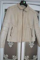next beige suede effect  jacket 16 LADIES LARGE COAT CARDIGAN JUMPER TOP