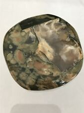 NEW, IN POUCH, LARGE RHYOLITE PALMSTONE.  CRYSTAL, HEALING, SELF RESPECT, RY20