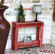 RED RUSTIC SIDE TABLE
