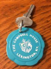 Vintage The Campbell House Room Key 235 Lexington Kentucky Teal Round Fob