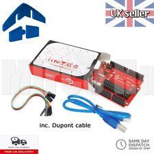 Arduino uno R3 Rev3 328 Atmega 328P Atmega 16U2 compatible con Cable USB Dupont &