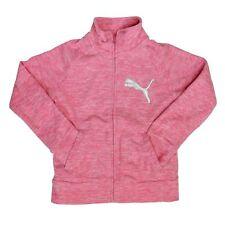 0f2a48cfeb9a PUMA Girls Size 8 10 Jacket Full Zip Heather Hot Pink Kids Medium