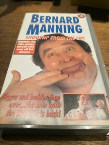 "Bernard Manning Commedy Tape VHS - ""Shootin' from the Lip!"" 18 rated"