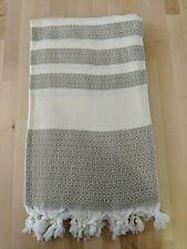 MyraMel BEIGE DIAMOND Bamboo Turkish Towel 90x180cm Bath Beach Spa Gym Yoga