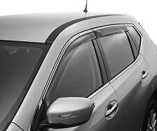 Genuine Nissan X-Trail T32 Slimline Tinted UV Weathershield Set Front Rear