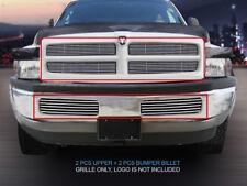 94-01 Dodge Ram Pickup Truck Billet Grille Grill Combo Insert 4 Pcs Fedar