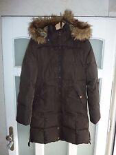 Damen Mantel Winter Jacke TOM Tailor Fellkragen S 36 38 braun NP198€ Daunenjacke