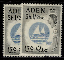 More details for aden qeii sg64 + 64a, 1s 25 shade varieites, m mint. cat £40.