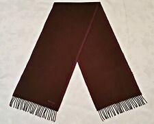 VINTAGE AUTHENTIC PAUL SMITH BROWN PURPLE WOOL LONG MEN'S FRINGE SCARF