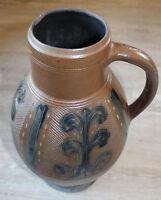 großer Steinzeug Krug Muskau um 1800 Original