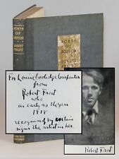 Robert Frost - North of Boston, second U.S. edition, signed twice by Frost