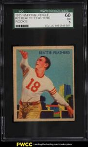 1935 National Chicle Football Beattie Feathers ROOKIE RC #23 SGC 5 EX