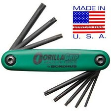 Bondhus Gorilla Grip Torx Star Fold Up Wrench Set T9-T40 MADE IN USA 12634
