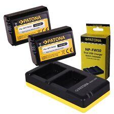 Dual Ladegerät PATONA + 2x Akku für Sony NP-FW50 Alpha 5000 6000 Alpha 7 NEX-7