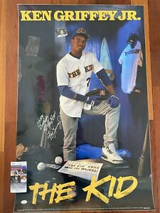 KEN GRIFFEY JR signed autographed VINTAGE 1989 Poster JSA COA Mariners