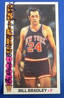 BILL BRADLEY auto signed autograph 1976-77 Topps New York Knicks w/ stationery