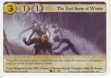 3 x The First Snow of Winter AGoT LCG 1.0 On Dangerous Grounds 59