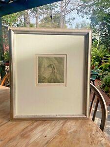 """FRAMED NO. 52/75 ORIGINAL ENGRAVING SIGNED AUST ARTIST CLIFTON PUGH """"THE EMU""""."""